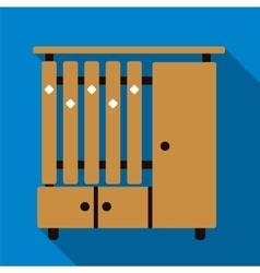 Cupboard flat icon vector image