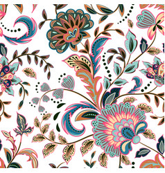 fashion seamless texture with fantasy flowers vector image vector image