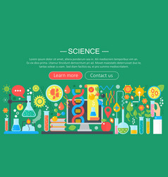 flat design concept of science horizontal banner vector image vector image