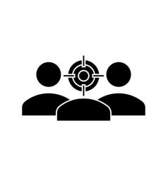 focus avatar icon sign o vector image
