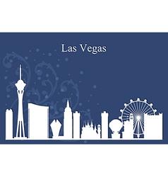 Las Vegas city skyline silhouette on blue backgrou vector image