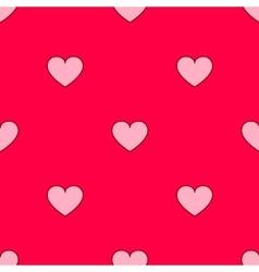 valentines hearts seamless pattern Wedding vector image