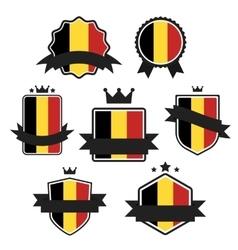 World Flags Series Flag of Belgium vector image
