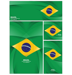 abstract brazil flag background vector image