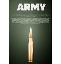Army poster graphic template vector