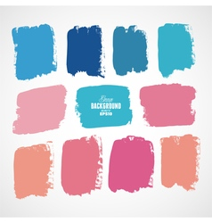 Grunge ink hand-drawn colorful shapes vector image vector image