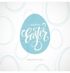 Happy easter egg lettering poster vector