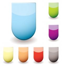 shield web icons vector image vector image