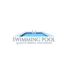 Swimming pool logo vector