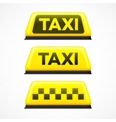 Taxi sign on white background vector image