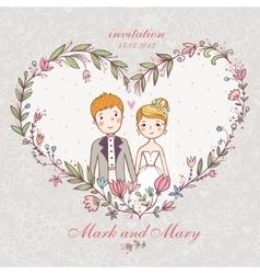 Cartoon concept marriage vector image