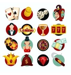 Casino icons set vector