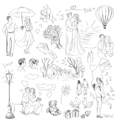 Hand drawn Love Story day vector image