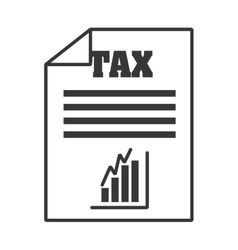 tax paper document icon vector image