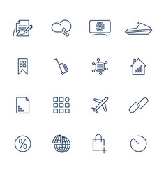 16 different icons for app mobile sites vector image