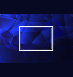 Abstract background polygonal blue modern vector
