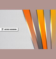 Abstract template orange and gray diagonal vector