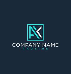 Ak ka initial logo luxury design inspiration vector