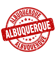 Albuquerque red grunge round vintage rubber stamp vector