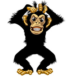 angry cartoon chimp vector image