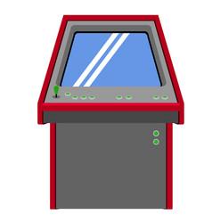 arcade machine icon vector image