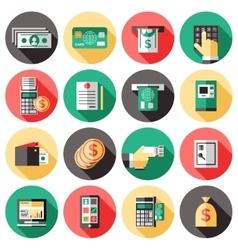 ATM Icon Set vector image