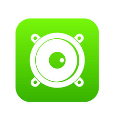 audio speaker icon digital green vector image
