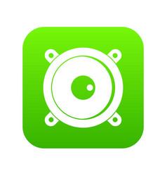 audio speaker icon digital green vector image