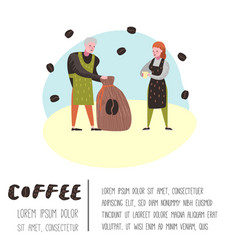 barista man and woman flat characters coffee shop vector image