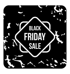 Black friday sale tag icon grunge style vector image
