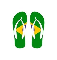 Brazilian flip flops icon flat style vector image