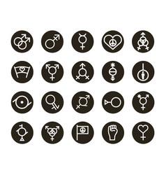 Bundle twenty gender symbols sexual vector
