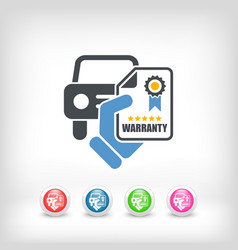 car warranty icon vector image