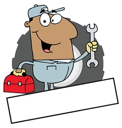 Cartoon mechanic vector