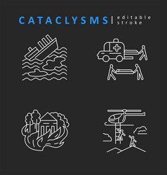 cataclysms and natural disasters icon and vector image