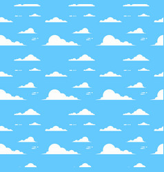 Cloud over blue background sky seamless pattern vector