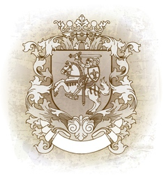 Coat of arms drawn by hand vector image