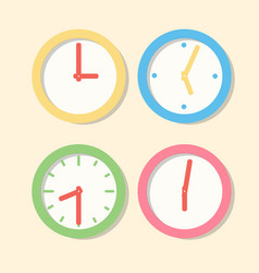 Collection wall clock patterns icons clock in vector