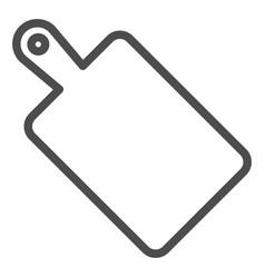 Cutting board line icon wooden board vector