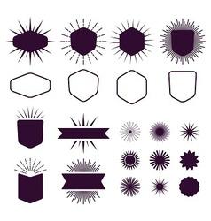 dark burgundy vintage style design elements set vector image