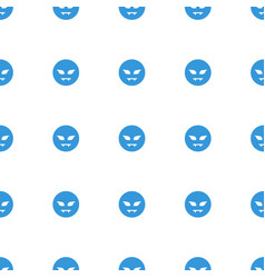 Devil emot icon pattern seamless white background vector