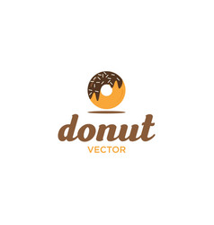 donuts logo design logo template vector image
