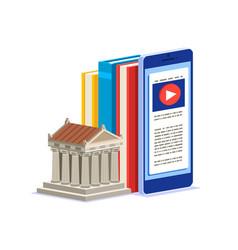 Encyclopedia library icon vector