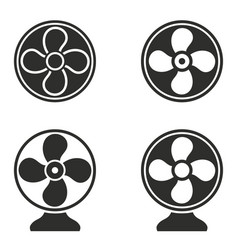 Fan icons set vector