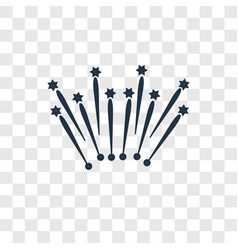 Fireworks concept linear icon isolated on vector