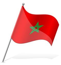 Flag morocco vector