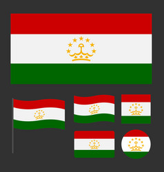 flag of tajikistan with various proportions and vector image
