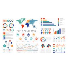 Flat infographic elements presentation chart vector