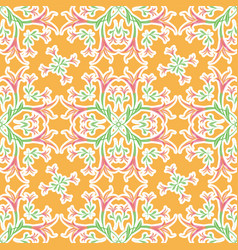 floral orange seamless ornament pattern of lilies vector image