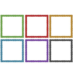 Frame design in six colors vector image